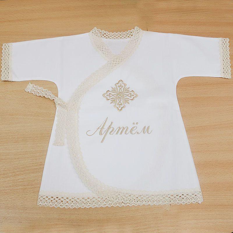 Вышивка на крестильной рубашке девочке 99